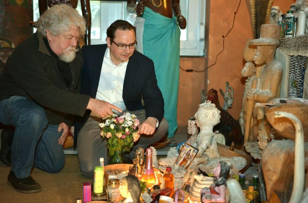Henning Christoph (Museumleiter) und Thomas Kufen MdL (Vorsitzender der CDU-Fraktion Essen).