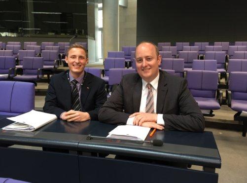 Matthias Hauer und Luca Ducree im Bundestag2