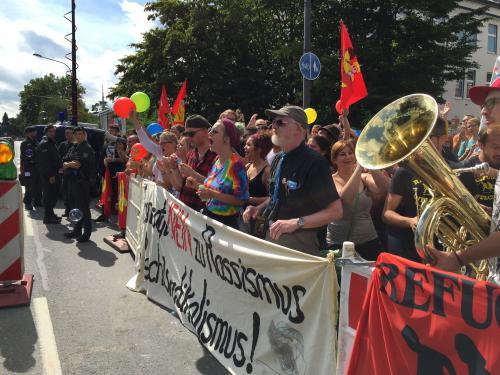 Demonstration gegen Fremdenhass in Essen