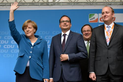 Wahlkampfveranstaltung für Thomas Kufen auf dem Burgplatz in Essen am 04.September 2015