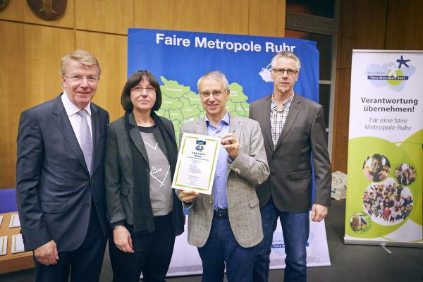 Essen und das Ruhrgebiet wurden erneut als Faire Metropole ausgezeichnet