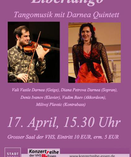 """Libertango"",  Tangomusik mit dem Darnea Quintett in der VHS"