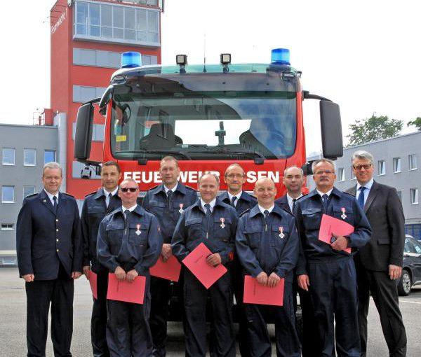 Feuerwehr-Ehrenzeichen in Silber verliehen