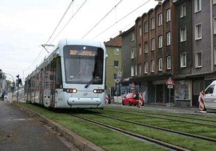 Gelsenkirchen begrünt Straßenbahngleise