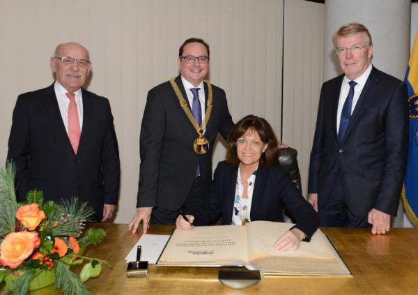 Oberbürgermeister empfängt Präsidium des Deutschen Städtetages im Rathaus