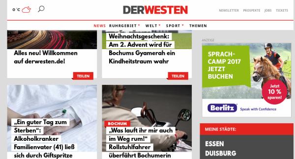 """WAZ-Gruppe duzt jetzt seine Leser und fordert zum """"Teilen"""" auf"""
