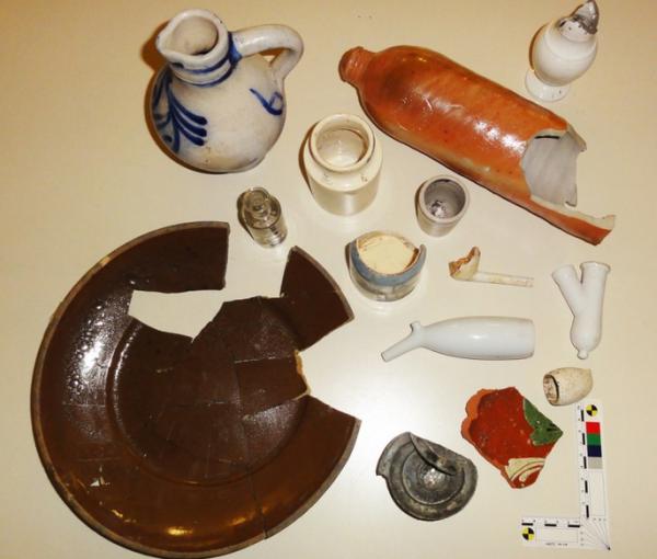 """Archäologische Funde der """"Kreuzenbeck"""" an der Velberter Straße"""