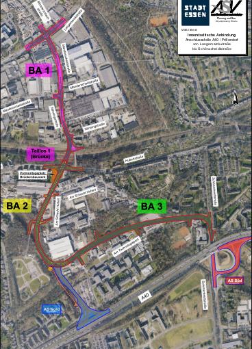 Stadt Essen erhält Mittel für den Bau der A40 Anschlussstelle Essen-Frillendorf