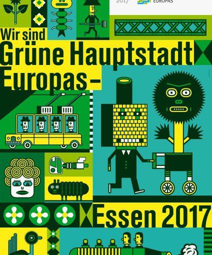 Henning Wagenbreth gewinnt Plakatwettbewerb der Grünen Hauptstadt Europas – Essen 2017
