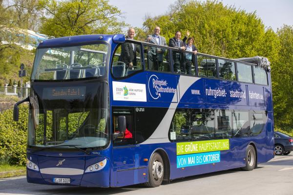 Grüne Hauptstadtlinie startet im Mai. Essen 2017 präsentiert neue Stadtrundfahrt