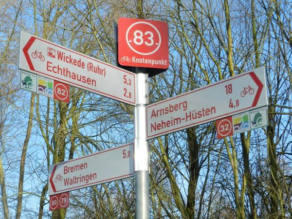 Radeln nach Zahlen: RVR-Knotenpunktsystem soll Radfahrern im Ruhrgebiet die Orientierung erleichtern