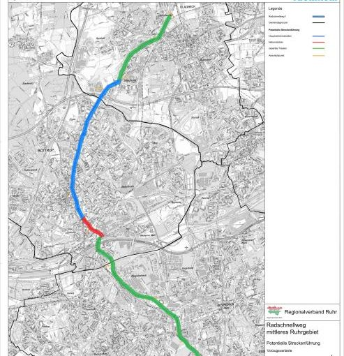 Regionalverband Ruhr stellt mögliche Trasse für Radschnellweg Mittleres Ruhrgebiet vor