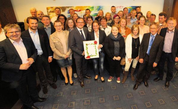 Oberbürgermeister ehrt Eltern der städtischen Kita-Fördervereine