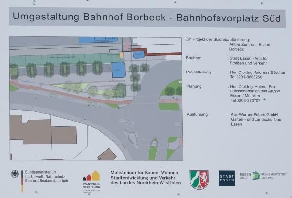 Übergabe des Bahnhofs Borbeck vollendet Masterplan