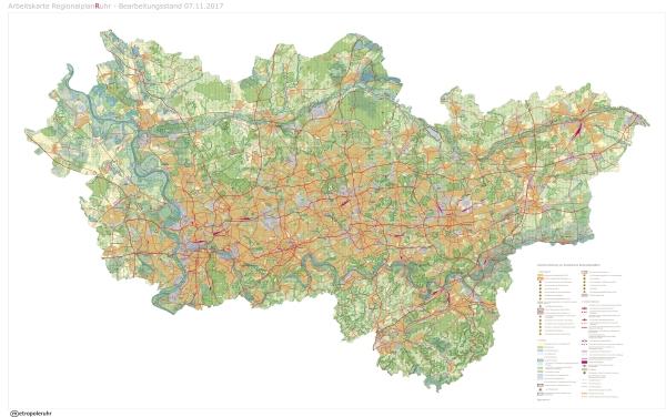 RVR stellt ersten einheitlichen Regionalplan für das Ruhrgebiet vor