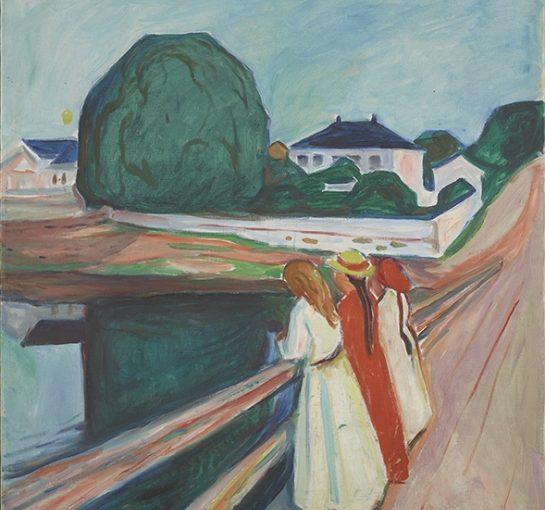 """Edvard Munchs Gemälde """"Die Mädchen auf der Brücke"""" im Museum Folkwang"""